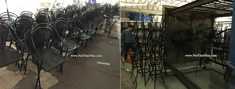 Chất lượng bàn ghế sắt nói chung hay bàn ghế đan sợi giả mây vẫn kém đi dù sơn tĩnh điện, nếu...?