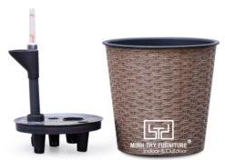 Chậu Trồng Cây Tự Dưỡng Nhựa Đan Tròn – NT34