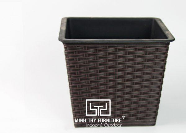 Chậu Trồng Cây Tự Dưỡng Nhựa Đan Vuông – NV12.8