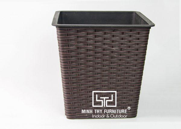 Chậu Trồng Cây Tự Dưỡng Nhựa Đan Vuông – NV16