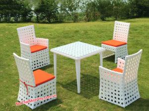 Bàn ghế Cafe nhựa giả mây MT2A152