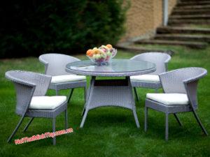 Bàn ghế Cafe nhựa giả mây MT2A153