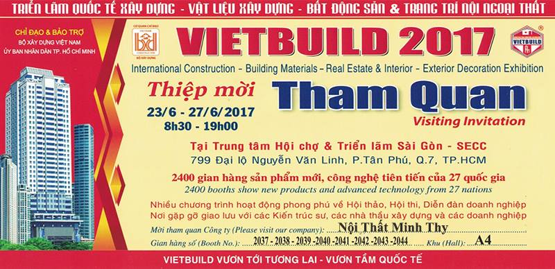 Minh Thy tham gia triển lãm hội trợ Quốc tế VietBuild 2017