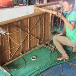 Sản xuất ghế hồ bơi nhựa giả mây MT489 với khung sắt sơn tĩnh điện đan sợi mây nhựa kháng uv