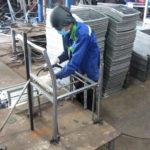 Sản xuất khung sắt mạ kẽm bàn ghế cafe nhựa giả mây MT207 tại xưởng cơ khí Minh Thy Furniture