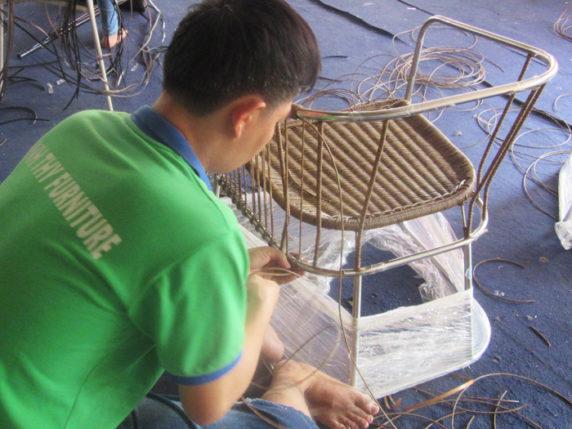 ghế cafe mây nhựa