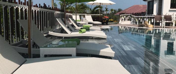 THE VILLA HOI AN chọn Minh Thy Furniture cung cấp giường tắm nắng ngoài trời