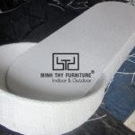 Hướng dẫn cách đan ghế hồ bơi nhựa giả mây khung nhôm kháng tia cực tím