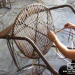 Cách thức đan bàn ghế cafe nhựa giả mây ngoài trời MT299