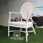 Sản xuất sản phẩm ghế cafe giả mây ngoài trời theo mẫu của khách hàng