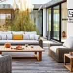 Sofa giả mây ngoài trời là sự lựa chọn hàng đầu cho phong cách kiến trúc hiện đại