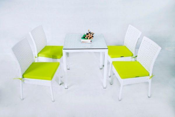 Bàn ghế cafe nhựa giả mây MT2A154